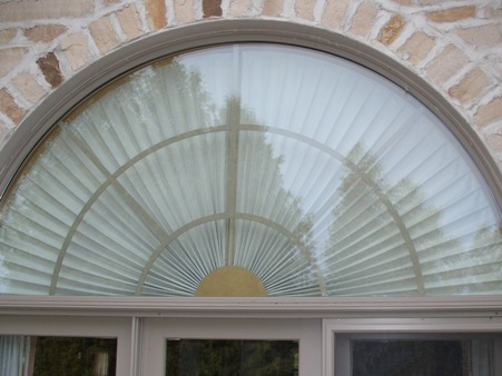 Toile Arched Window Treatment On Rectang Design Ideas, Pictures