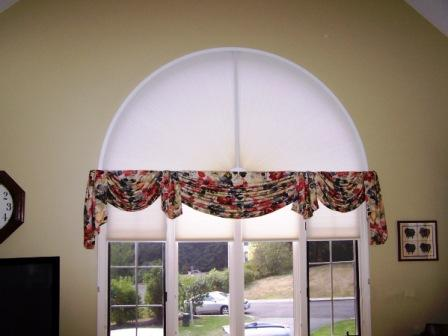 Curtains Ideas curtains for half moon windows : Arched Window Treatments, ADJUST-A-VIEW Moveable Arches by Omega ...