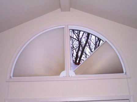 Adjust A View Shown On Quarter Circle Windows Above Patio Doors