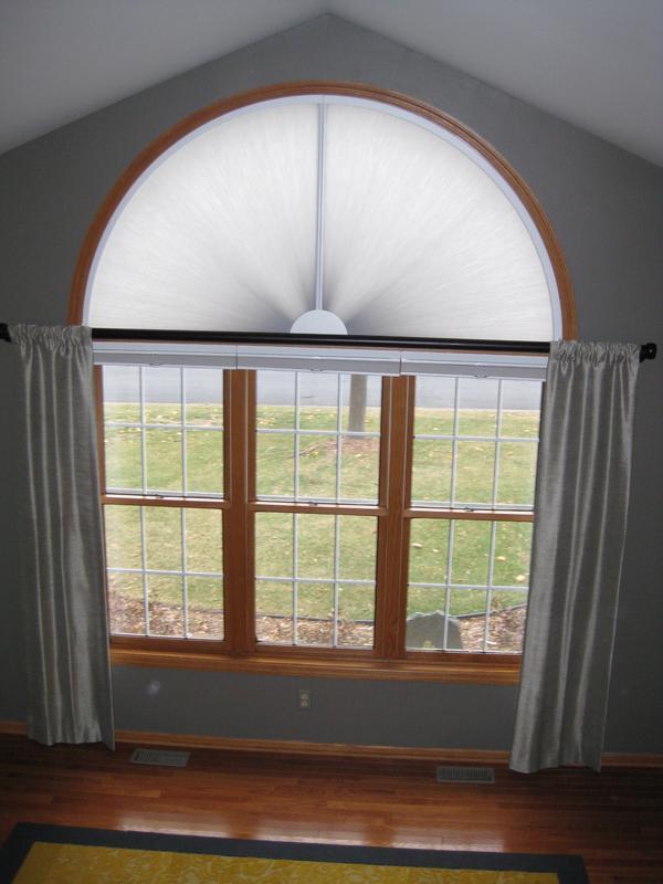 arched window treatments  adjust
