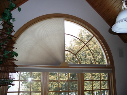 Moveable Arched Window Treatment