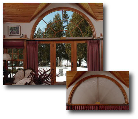 Arched Window Treatments  ADJUST A VIEW Moveable Arches by Omega